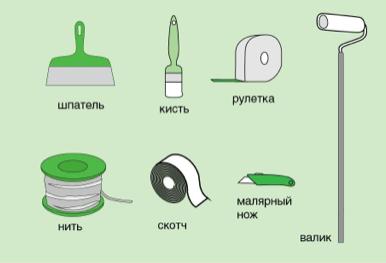 Инструменты для поклейки потолочной плитки