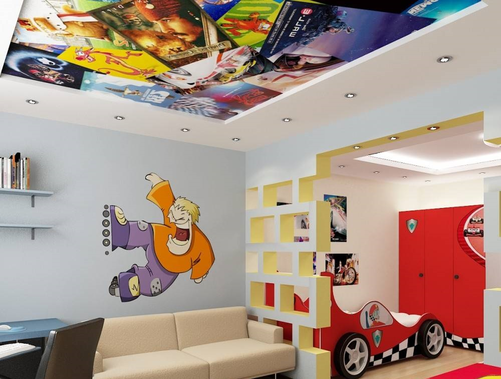 Интерьерные коллажи из наклеек для потолка в детской