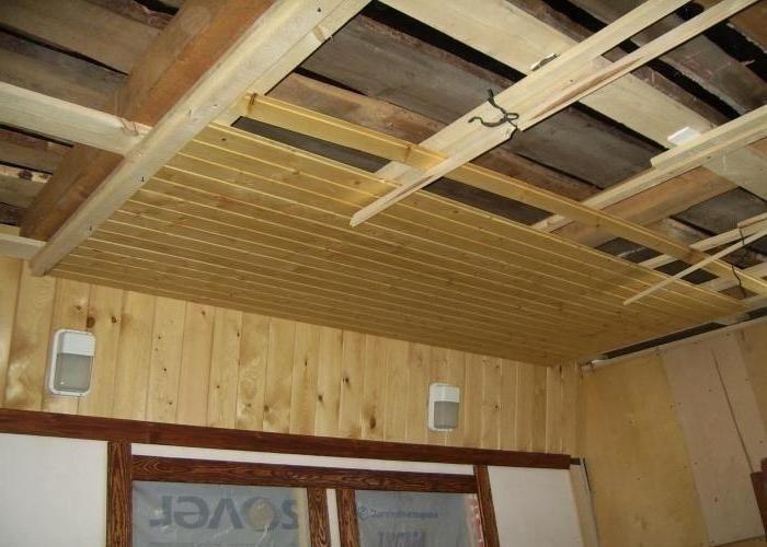 Крепление вагонки на потолок