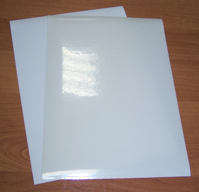 LAN-MUL-A4-00. Пленка самоклеящаяся для печати на лазерном принтере, прозрачная