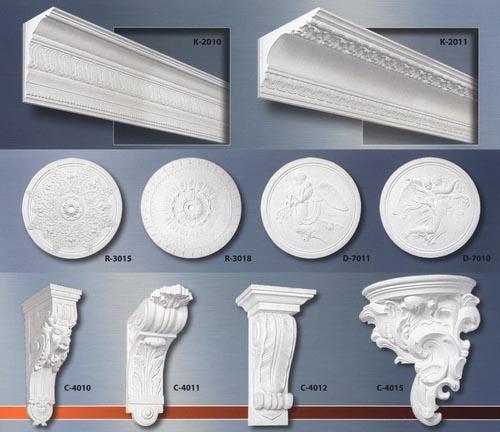 Лепнина из полиуретана, качественно изготавливаемая современными производителями, не уступает классической гипсовой ни в технических характеристиках, ни в визуальных