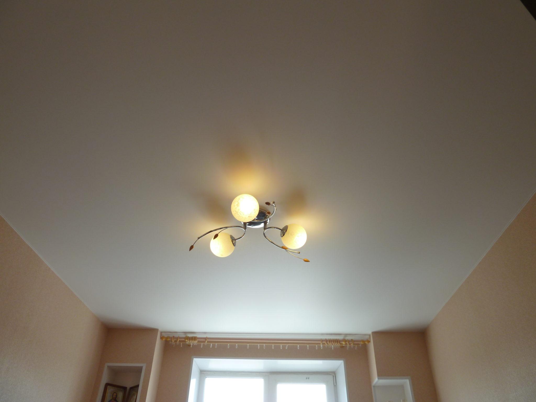 Матовый потолок из ПВХ пленки