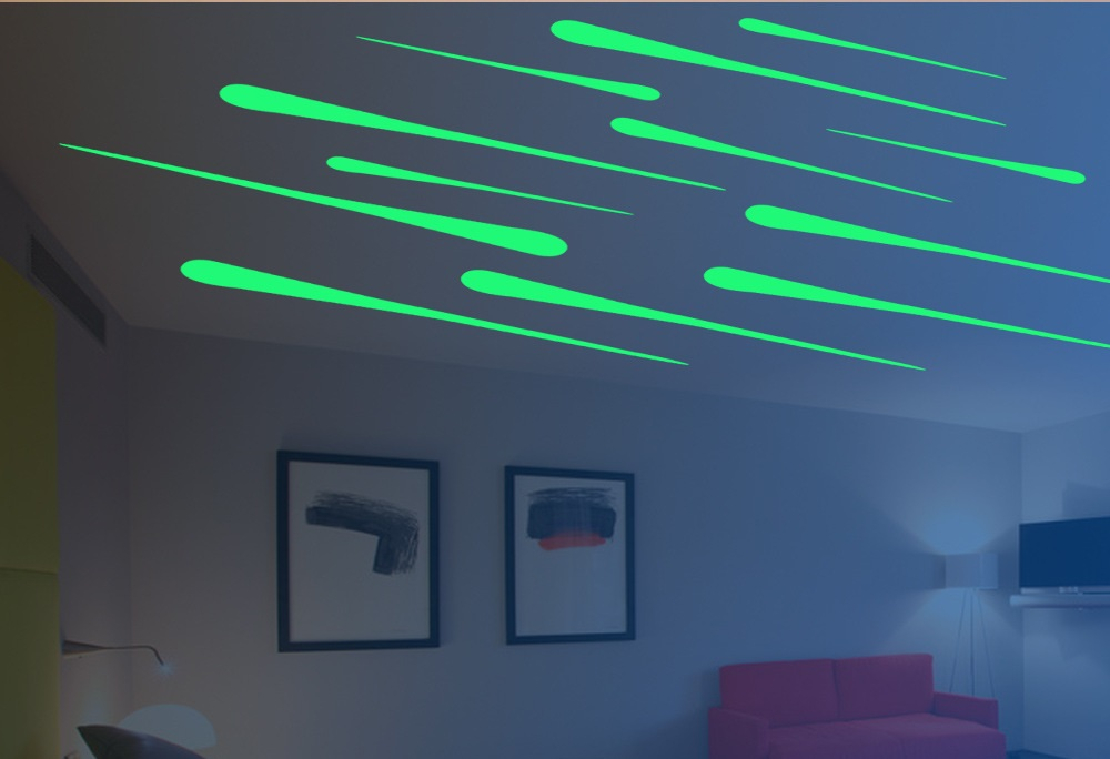 Наклейки потолочные люминесцентные