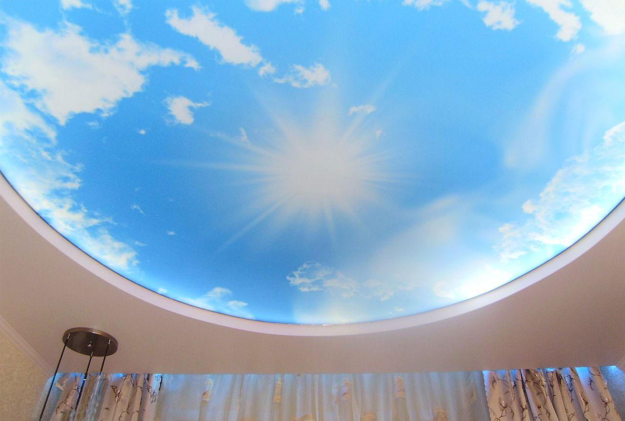 Натяжные потолки с фотопечатью «Небо»