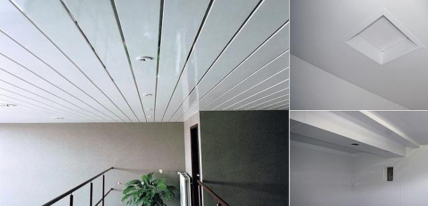 Пластиковый потолок из ПВХ-панелей