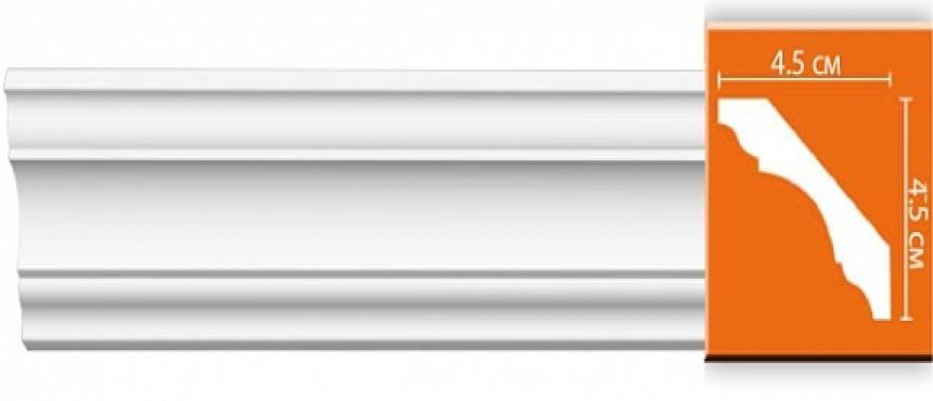 Потолочный плинтус из полиуретана (цельный)