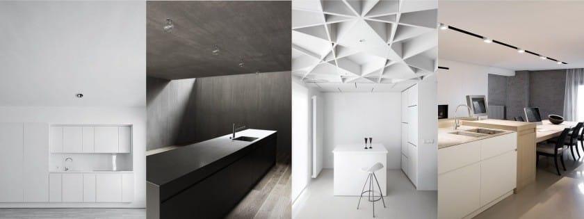 Потолок на кухне в стиле хай-тек