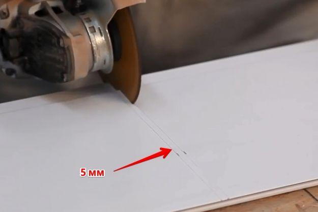 Резка ПФХ панели на 5 мм короче