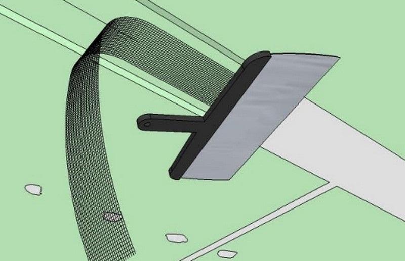 Схема заделки прикрепленных листов гипсокартона к потолку