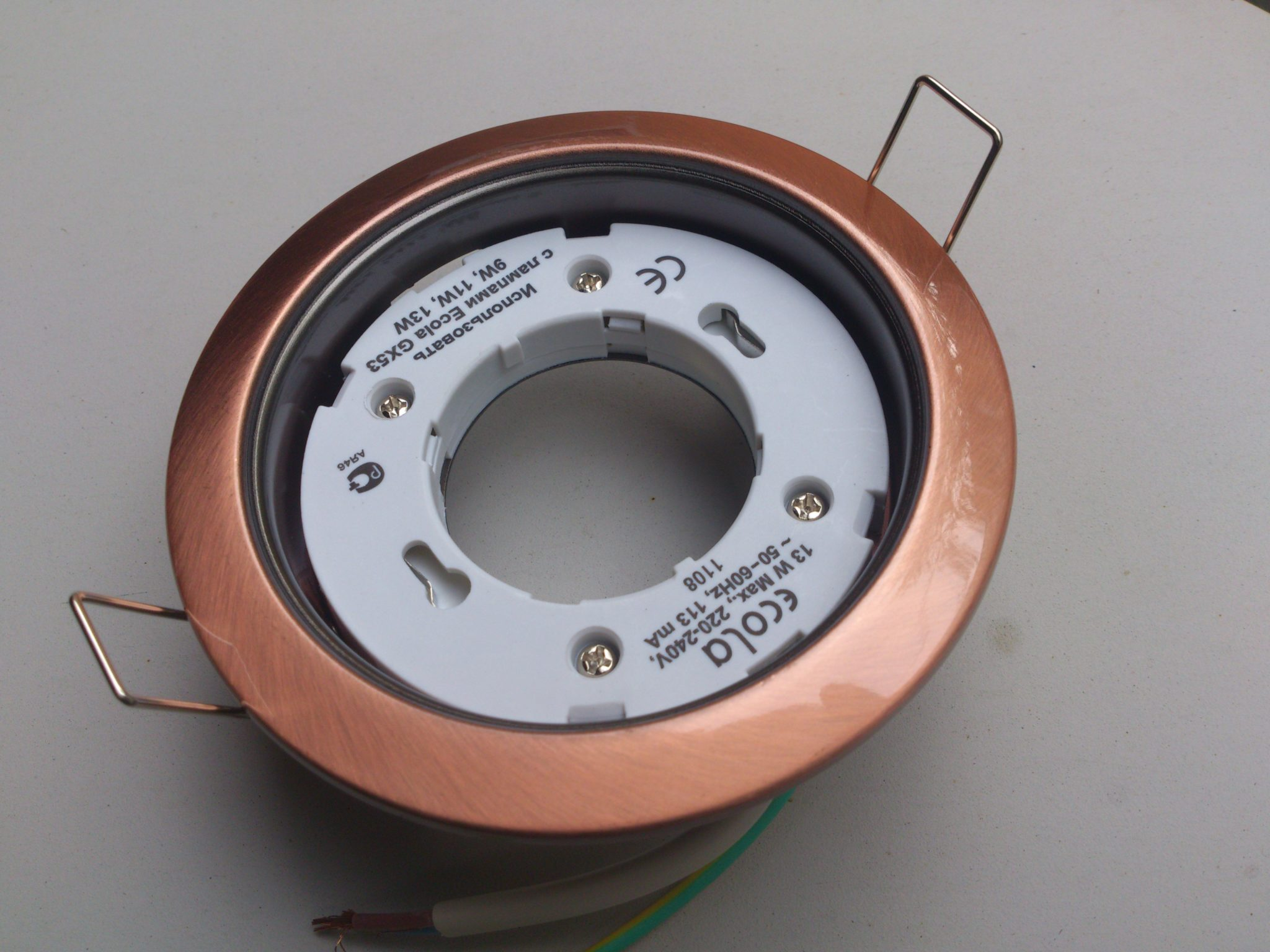 Светильник Ecola GX53 H4 Чеканка Chrome FS61H4ECB