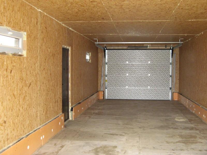 Внутренняя отделка гаража OSB панелями