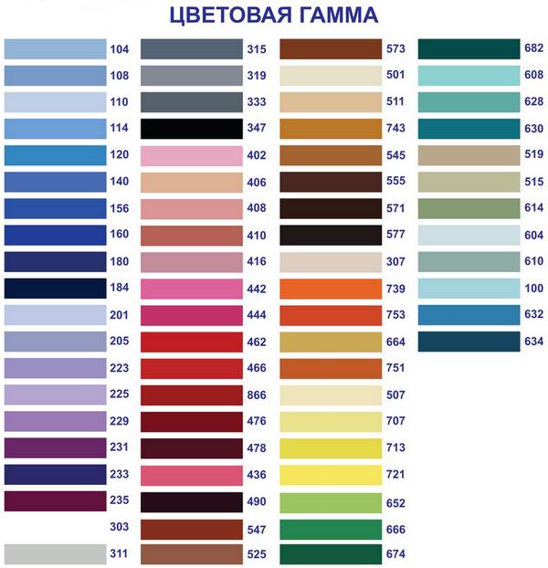 Популярные цвета пленочных натяжных потолков