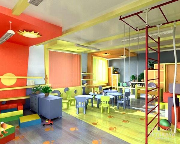Зонирование детской комнаты при помощи потолка