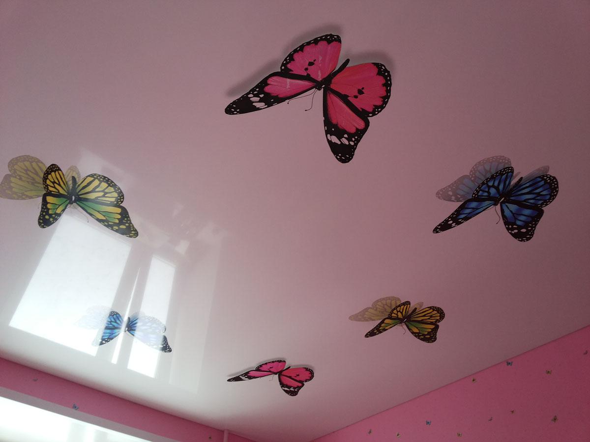Как сделать бабочку на потолке из гипсокартона 70