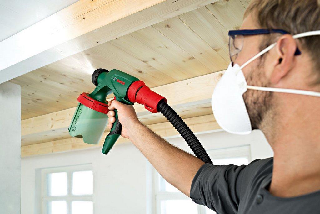 Краскопульт для покраски стен и потолков компрессором наливной пол латонит