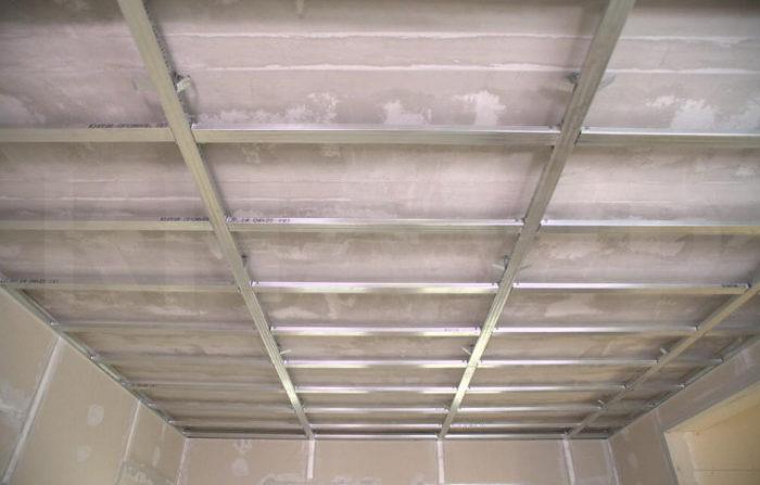 Готовый каркас для гипсокартонного потолка