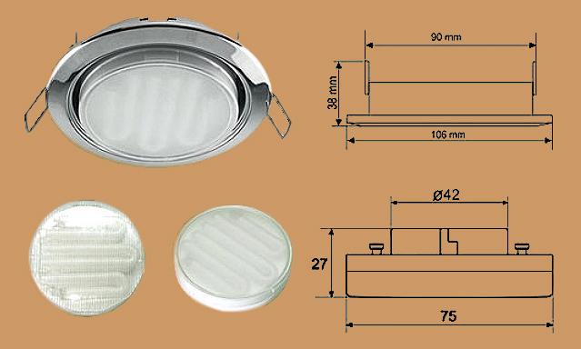 Схема диодного светильника для натяжных потолков Ecola GX53 H4