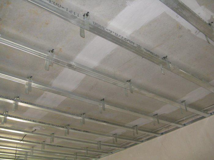 Каркас потолок из гипсокартона
