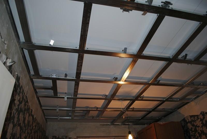 Ячеистый каркас для гипсокартона на потолок