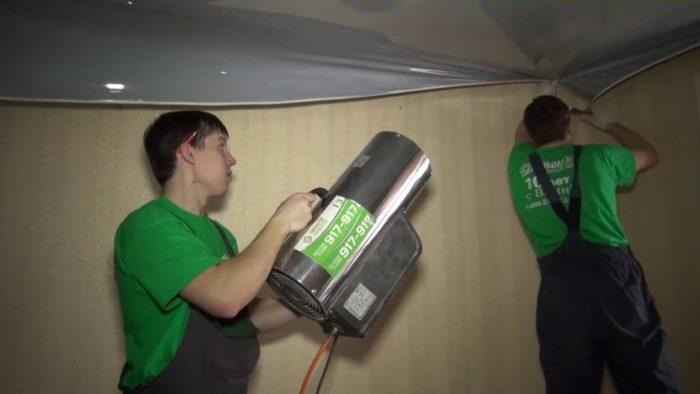 В процессе монтажа в помещении должна поддерживаться необходимая температура