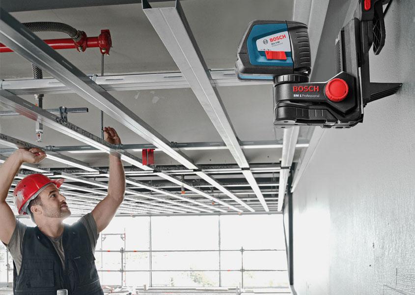 Монтаж каркаса для гипсокартонного потолка