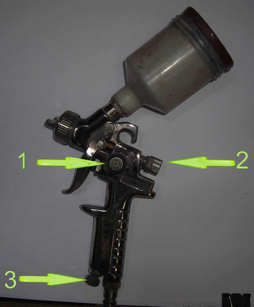 Регулировочные винты для настройки параметров факела