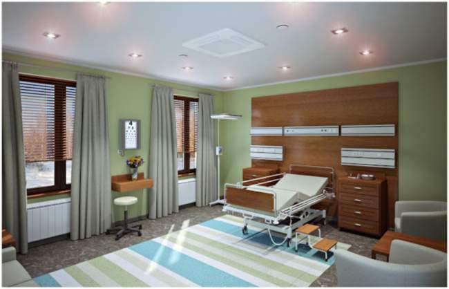 Антибактериальные натяжные потолки используются в медицинских учреждениях