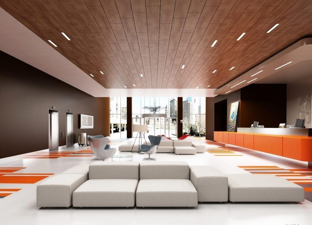 Подвесной потолок из ламината