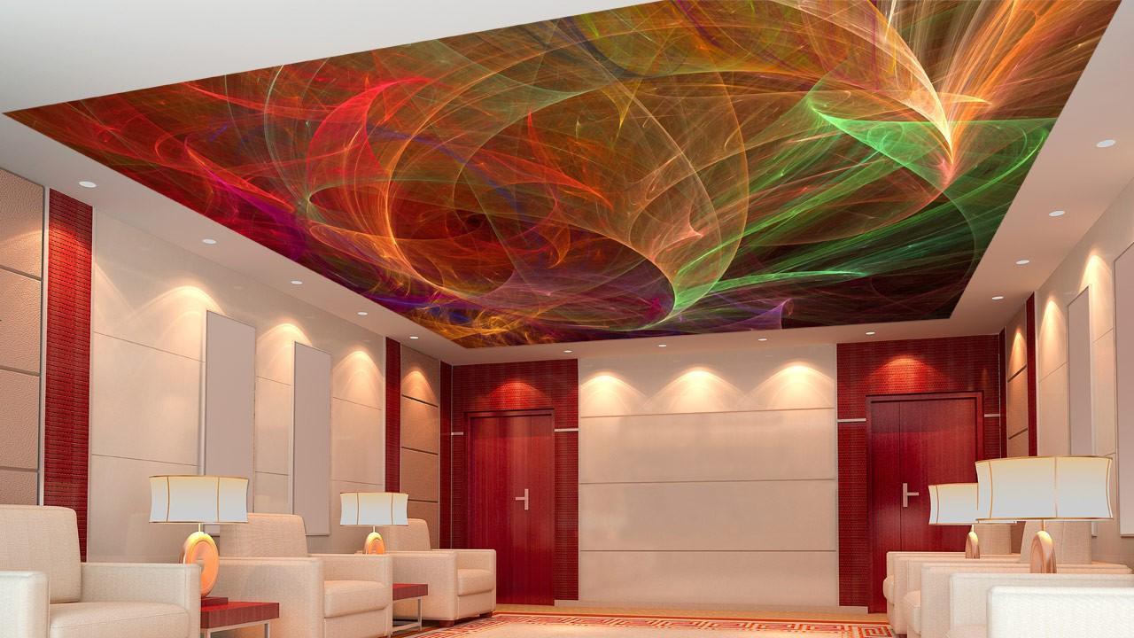 Натяжной потолок с 3D фотопечатью