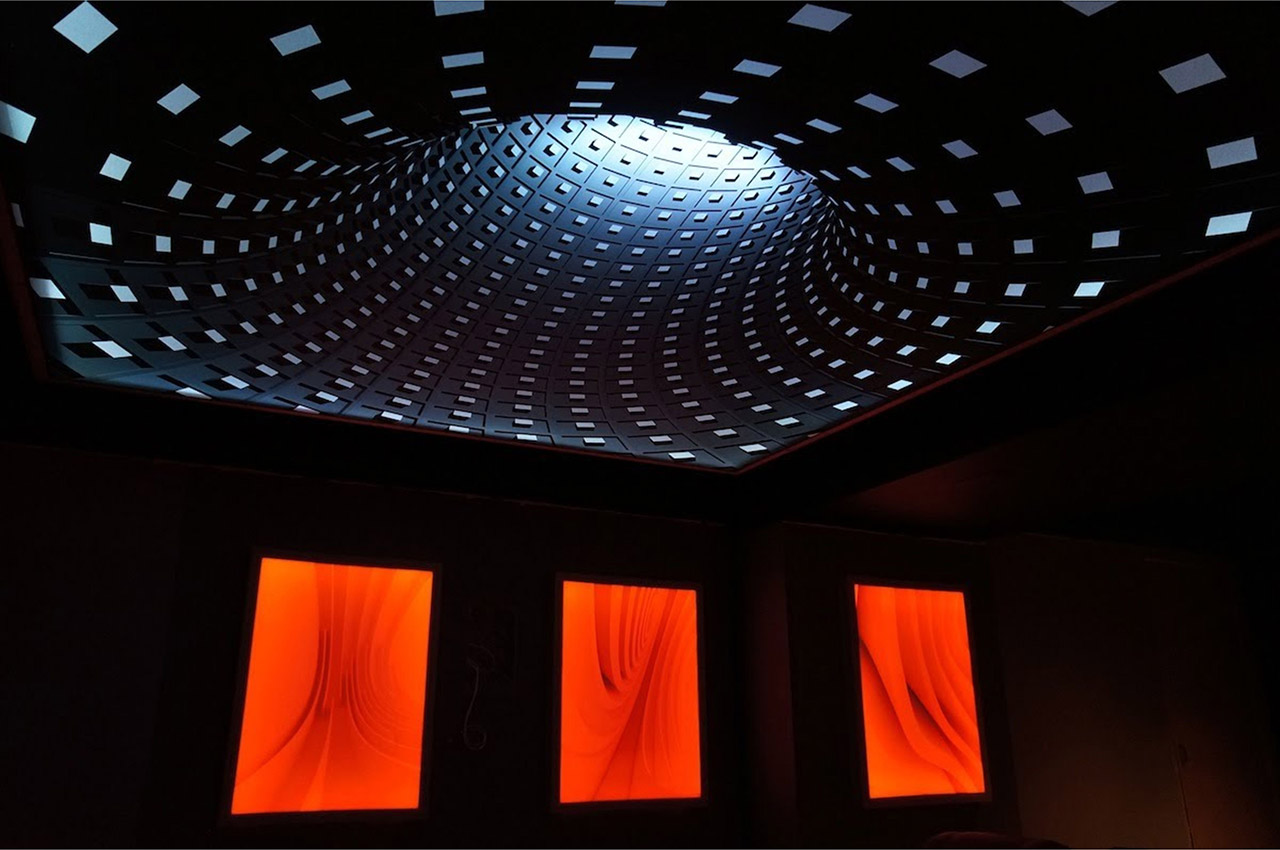 атяжной потолок с 3d эффектом
