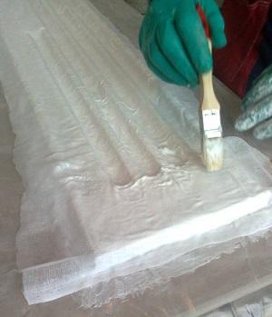 Армирование силикона тканью