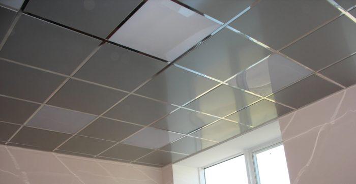 """Кассетный потолок """"Албес"""" с алюминиевыми плитами"""