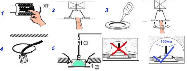 Как своими руками установить софиты