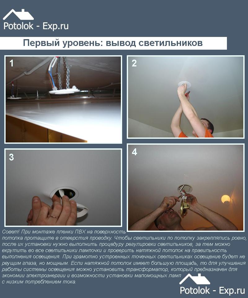 Первый уровень: вывод светильников