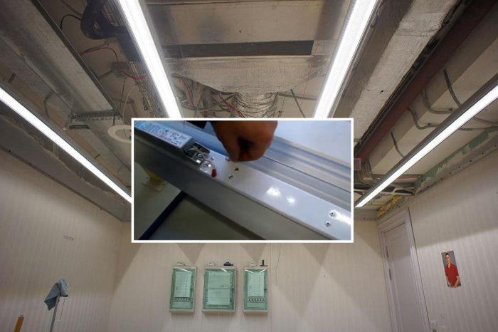 Линейные светильники установлены, теперь остается только смонтировать подвесной или натяжной потолок