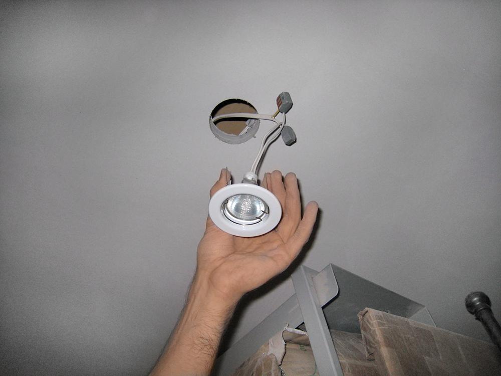 Подключение точечного светильника