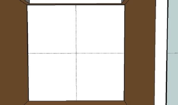Начинаем разметку, размечаем центр комнаты. Это легко сделать, натянув шнурок из угла в угол и отметив центр пересечением линий.