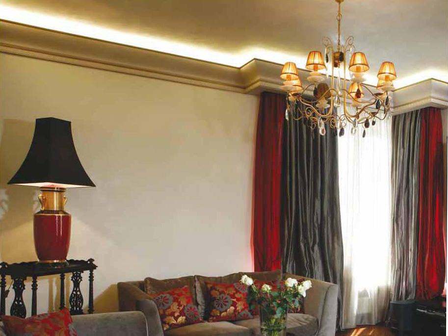 Пример парящего потолка с карнизом 2