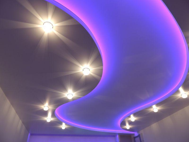 Пример натяжного парящего потолка 3
