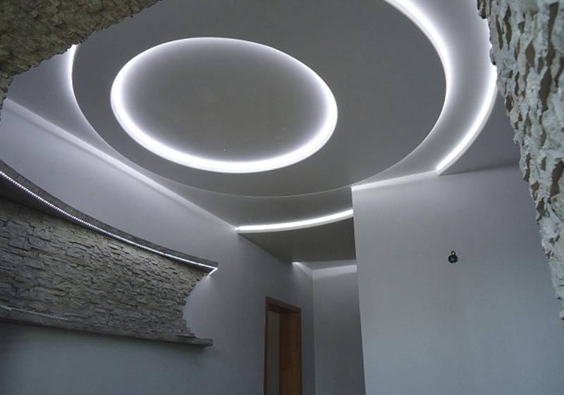 Пример натяжного парящего потолка 4