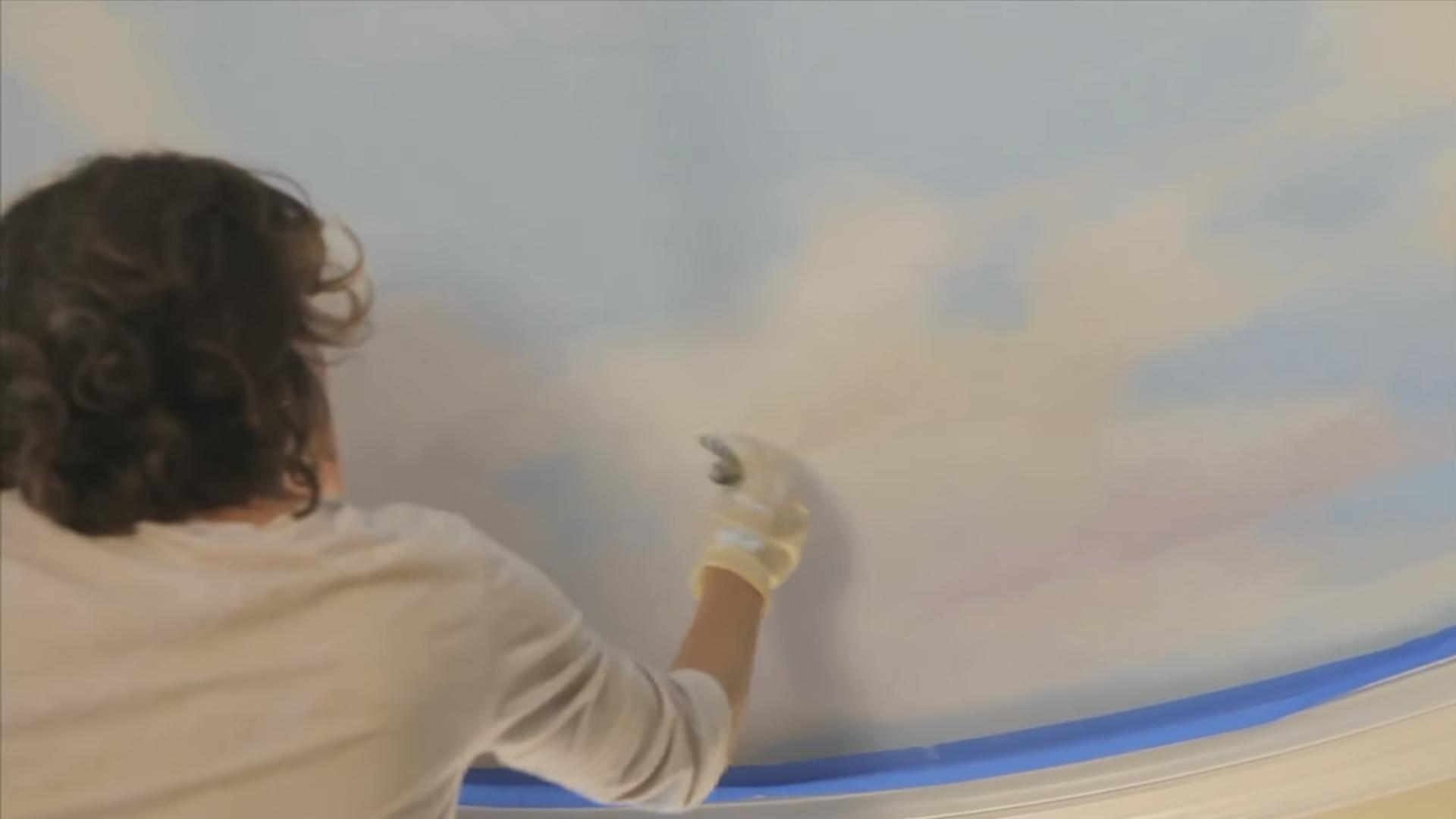 """Обработка """"солнечной"""" стороны облаков"""