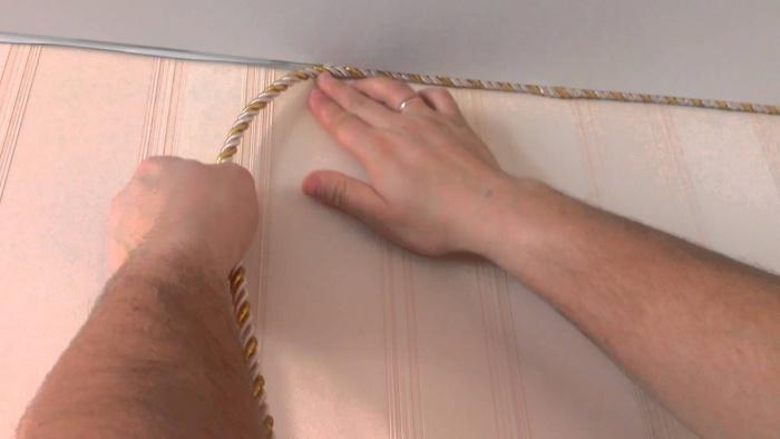 Процесс монтажа декоративного шнура