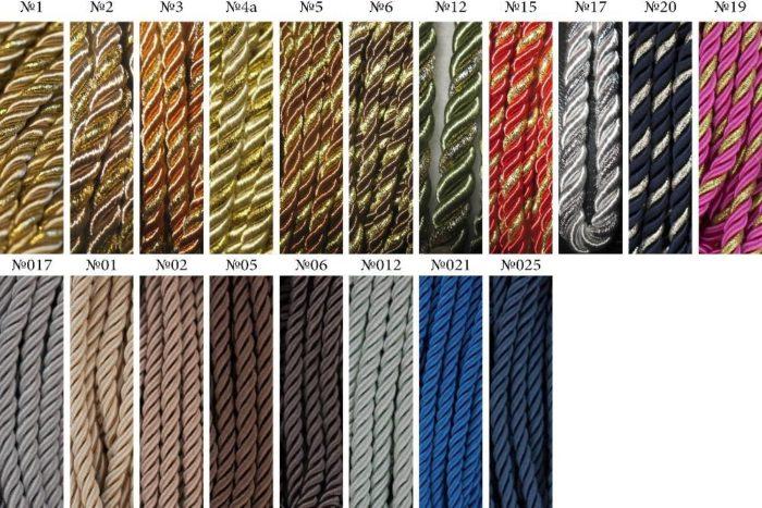 Популярные варианты исполнения декоративных шнуров для натяжного потолка