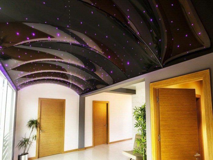 """Арочный натяжной потолок """"Звездное небо"""""""