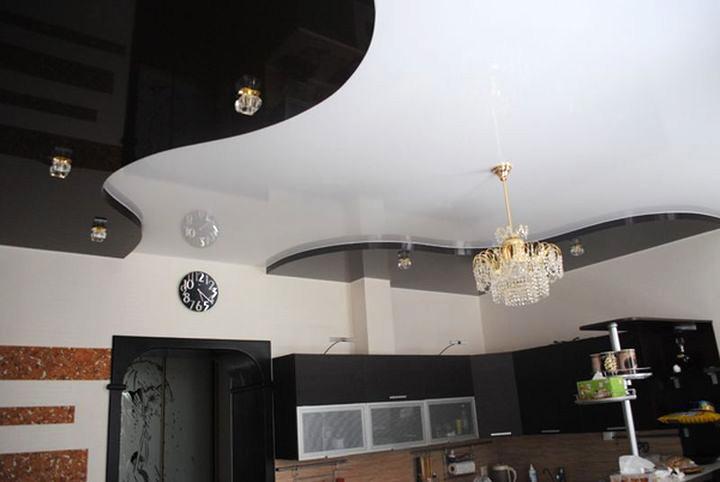Черно-белые натяжные потолки
