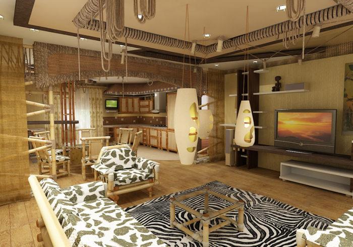 Дизайн квартиры в африканском стиле
