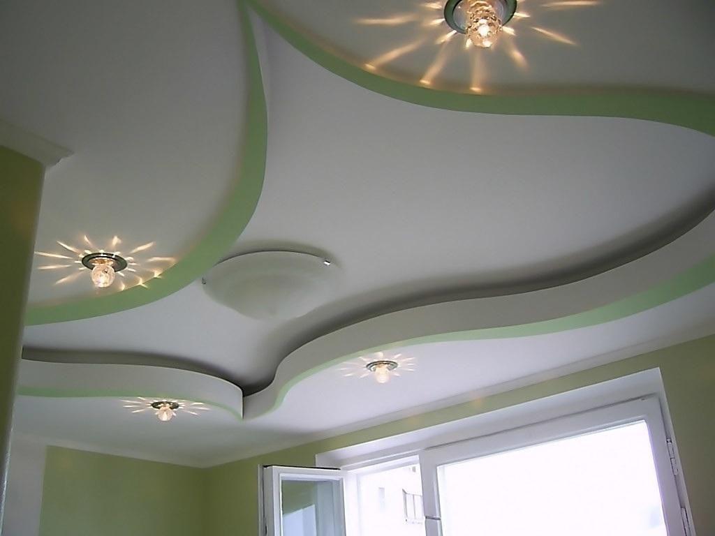 Дизайн подвесных потолков из гипсокартона для кухни