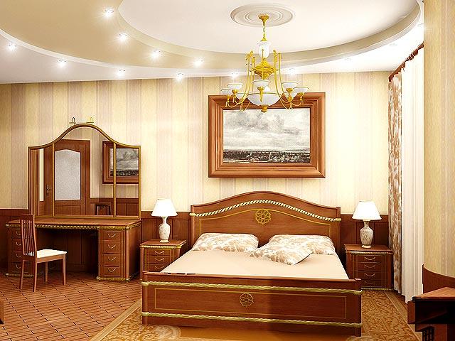 Дизайн потолка из гипсокартона в спальне