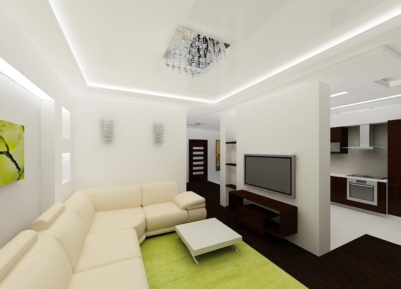 Дизайн потолков в гостиной