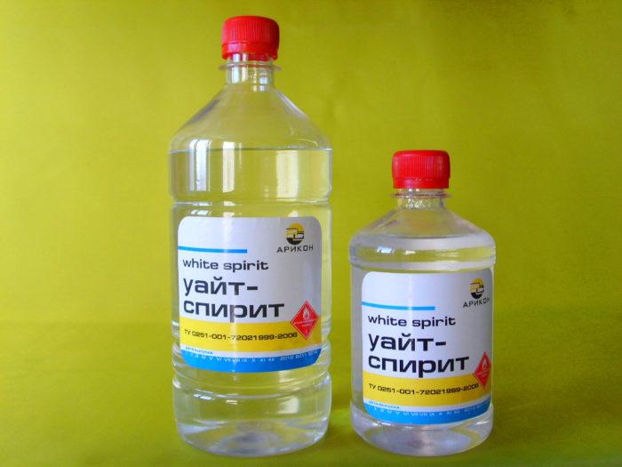 Для обезжиривания можно использовать Уайт-спирит